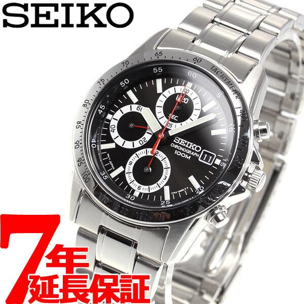 【エントリーでポイント10倍は20日20時から♪さらに25日は最大200円OFFクーポンも!】セイコー SEIKO 逆輸入 SEIKO クロノグラフ 腕時計 SND371P1 100M防水