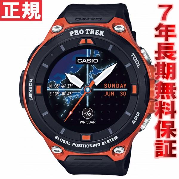 先着!クーポンで最大3万円OFF!&ポイント最大39倍!本日限定!20日23時59分まで!カシオ プロトレック CASIO PRO TREK スマートアウトドアウォッチ Smart Outdoor Watch オレンジ 腕時計 メンズ WSD-F20-RG