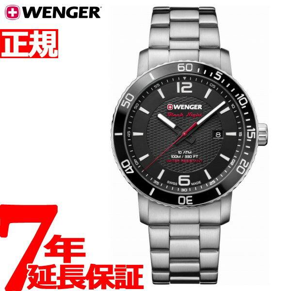 本日ポイント最大37倍!26日1時59分まで!ウェンガー WENGER 腕時計 メンズ ロードスター ブラックナイト Roadster Black Night 01.1841.104