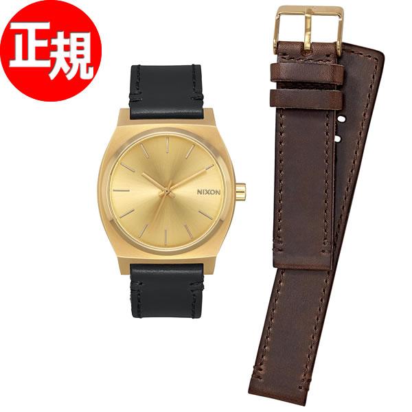 ニクソン NIXON タイムテラー パック TIME TELLER PACK 腕時計 メンズ/レディース オールゴールド/ブラック/ブラウン NA11372591-00【2017 新作】【あす楽対応】【即納可】