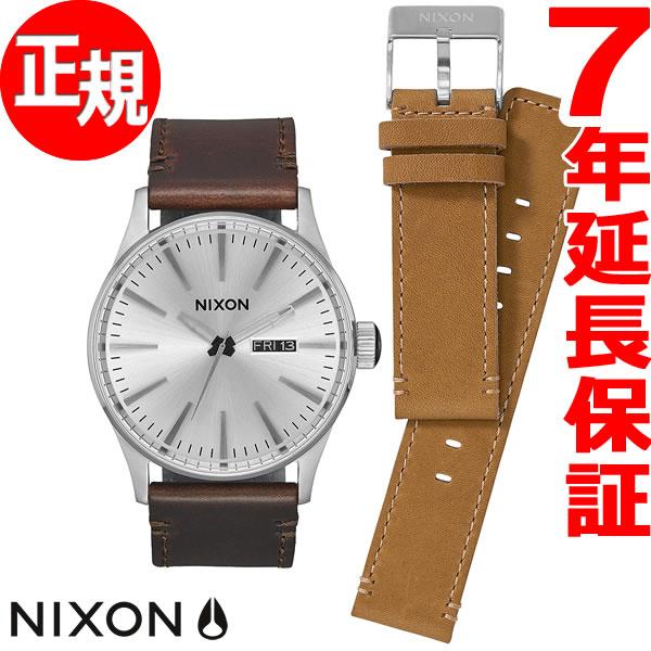ニクソン NIXON セントリー レザー パック SENTRY LEATHER PACK 腕時計 メンズ ホワイト/ブラウン/タン NA11382592-00【2017 新作】