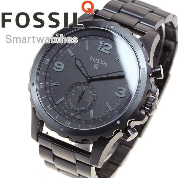 フォッシル FOSSIL ハイブリッド スマートウォッチ ウェアラブル Q NATE Qネイト 腕時計 メンズ/レディース FTW1115【正規品】【サイズ調整無料】
