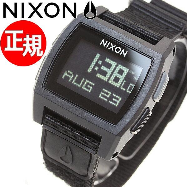 ニクソン NIXON ベースタイド ナイロン BASE TIDE NYLON 腕時計 メンズ/レディース オールブラック NA1169001-00【あす楽対応】【即納可】
