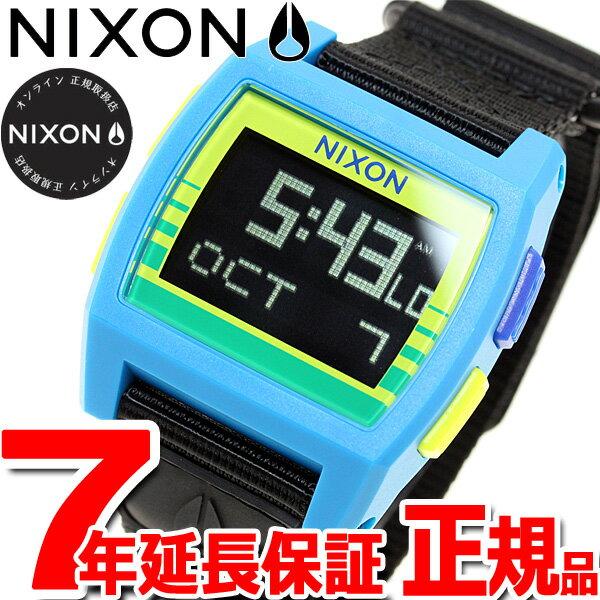 ニクソン NIXON ベースタイド ナイロン BASE TIDE NYLON 腕時計 メンズ/レディース ブルー/イエローフェード NA11692715-00【2017 新作】