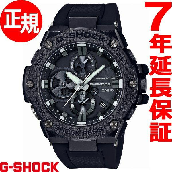 カシオ Gショック Gスチール CASIO G-SHOCK G-STEEL Carbon Edition ソーラー 腕時計 メンズ タフソーラー GST-B100X-1AJF【2017 新作】