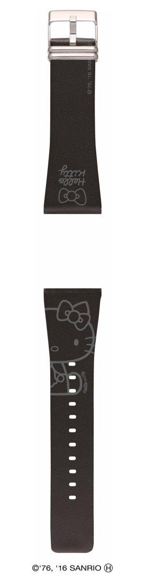 エプソン スマートキャンバス EPSON smart canvas Hello Kitty・シンプルホワイト ブラック 替えバンド メンズ レディース W1BHK10120