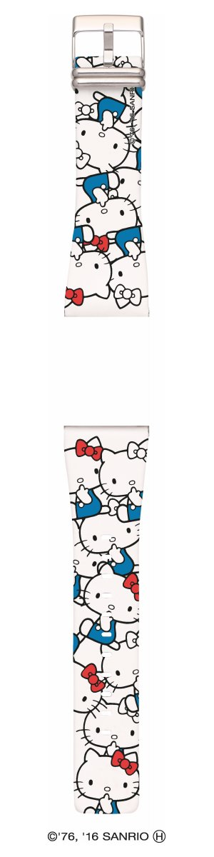 エプソン スマートキャンバス EPSON smart canvas Hello Kitty・シンプルホワイト ブルー 替えバンド メンズ レディース W1BHK10130