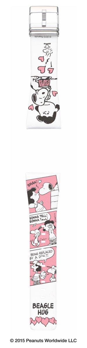 エプソン スマートキャンバス EPSON smart canvas PEANUTS BEAGLE HUG スヌーピーとルーシー・ヴァンペルト 替えバンド メンズ レディース W1BPN20210【あす楽対応】【即納可】