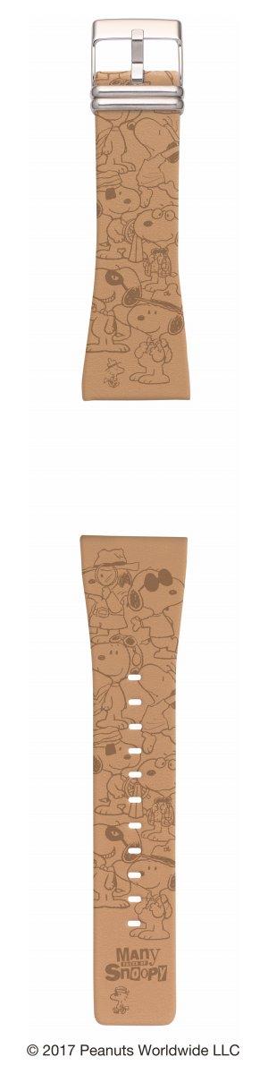 エプソン スマートキャンバス EPSON smart canvas PEANUTS Many Faces of Snoopy ブラウン 替えバンド メンズ レディース W1BPN30820