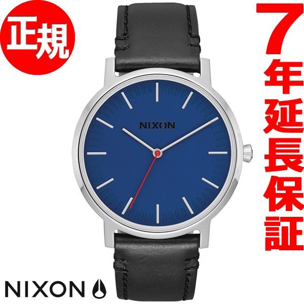 ニクソン NIXON ポーター レザー PORTER LEATHER 腕時計 メンズ/レディース ブルー/ブラック NA10581647-00【2017 新作】【あす楽対応】【即納可】