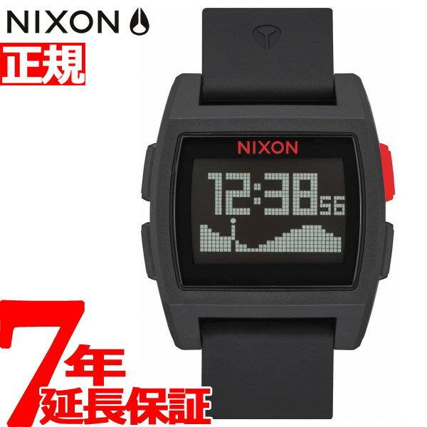 ニクソン NIXON ベースタイド BASE TIDE 腕時計 メンズ/レディース ブラック/レッド NA1104008-00【2017 新作】