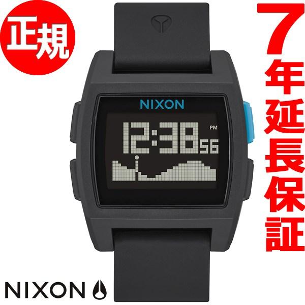 ニクソン NIXON ベースタイド BASE TIDE 腕時計 メンズ/レディース ブラック/ブルー NA1104018-00【2017 新作】