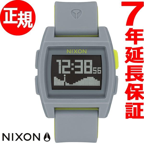 ニクソン NIXON ベースタイド BASE TIDE 腕時計 メンズ/レディース グレイ/ボルト NA11042744-00【2017 新作】
