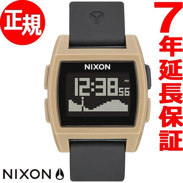 ニクソン NIXON ベースタイド BASE TIDE 腕時計 メンズ/レディース ブラック/サンド NA1104291-00【2017 新作】