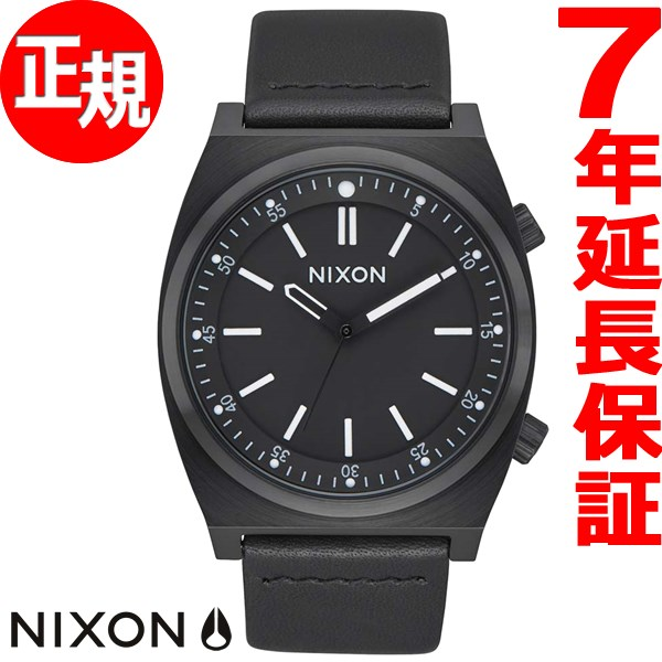 【1000円OFFクーポン!1月18日12時59分まで!】ニクソン NIXON ブリゲイド レザー BRIGADE LEATHER 腕時計 メンズ オールブラック NA1178001-00【2017 新作】