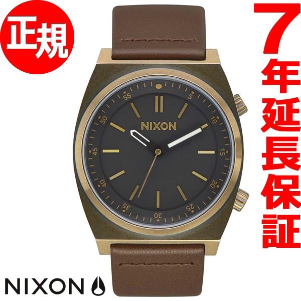 ニクソン NIXON ブリゲイド レザー BRIGADE LEATHER 腕時計 メンズ ブラス/ブラック/トープ NA11782539-00【2017 新作】