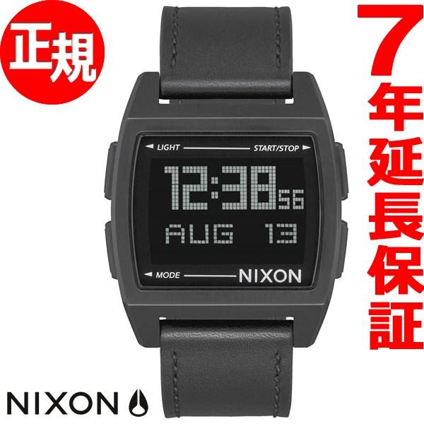本日ポイント最大37倍!26日1時59分まで!ニクソン NIXON ベース レザー BASE LEATHER 腕時計 メンズ/レディース オールブラック NA1181001-00