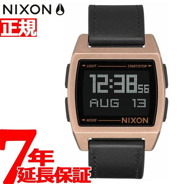 ニクソン NIXON ベース レザー BASE LEATHER 腕時計 メンズ/レディース アンティークカッパー/ブラック NA1181872-00