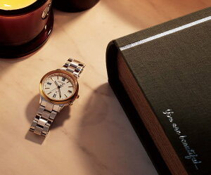 シチズンクロスシーCITIZENxCエコドライブソーラー電波時計大草直子さん監修mi-molleコラボ限定モデル腕時計レディースティタニアラインハッピーフライトCB1108-55A【2017新作】