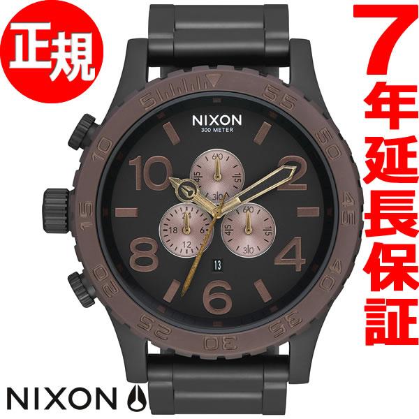 ニクソン NIXON 51-30 クロノ CHRONO 腕時計 メンズ クロノグラフ オールブラック/ブラウン/ブラス NA0832786-00【2017 新作】