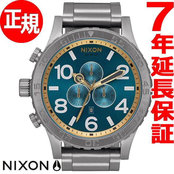 ニクソン NIXON 51-30 クロノ CHRONO 腕時計 メンズ クロノグラフ ガンメタル/スプルース/ブラス NA0832789-00【2017 新作】【あす楽対応】【即納可】
