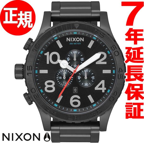 ニクソン NIXON 51-30 クロノ CHRONO 腕時計 メンズ クロノグラフ オールブラック/シルバー/ルミ NA0832790-00【あす楽対応】【即納可】