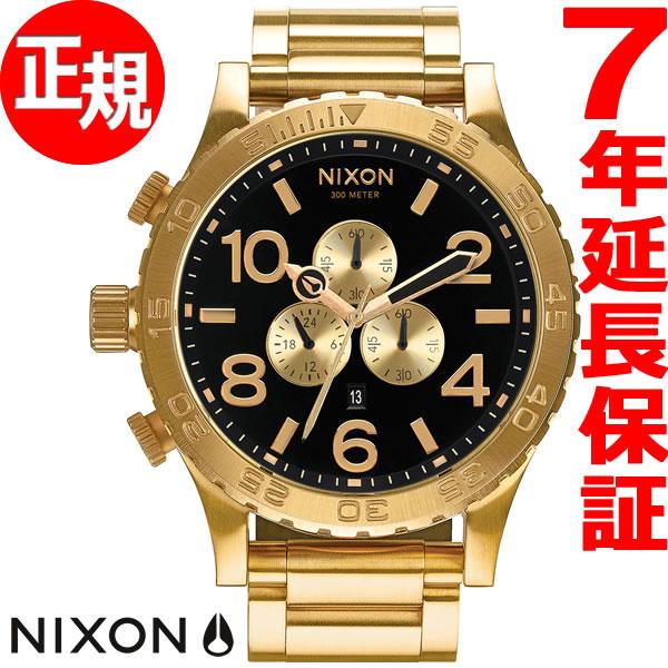 ニクソン NIXON 51-30 クロノ CHRONO 腕時計 メンズ クロノグラフ オールゴールド/ブラック NA083510-00【2017 新作】【あす楽対応】【即納可】