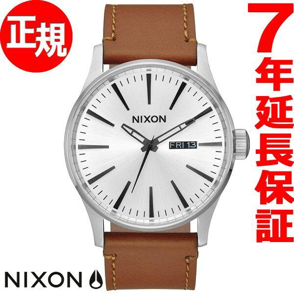 ニクソン NIXON セントリー レザー SENTRY LEATHER 腕時計 メンズ ホワイトサンレイ/サドル NA1052442-00【あす楽対応】【即納可】