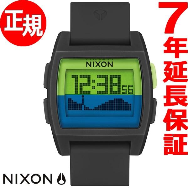 ポイント最大38倍!25日10時スタート! ニクソン NIXON ベースタイド BASE TIDE 腕時計 メンズ/レディース ブラック/グリーン/ネイビー NA11042817-00