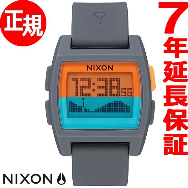 ニクソン NIXON ベースタイド BASE TIDE 腕時計 メンズ/レディース グレイ/オレンジ/ティール NA11042818-00