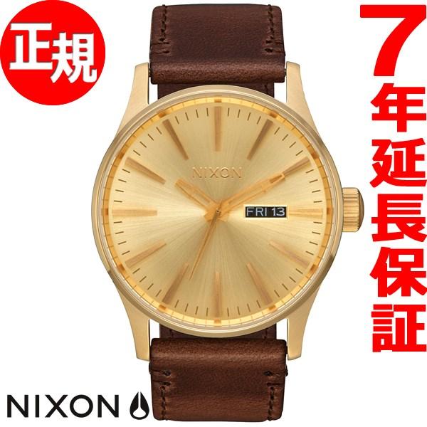 ニクソン NIXON セントリー パック SENTRY PACK 腕時計 メンズ オールゴールド/ブラック/ブラウン NA11382591-00