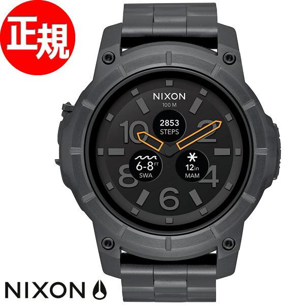 ニクソン NIXON ミッションSS MISSION SS スマートウォッチ 腕時計 メンズ/レディース ブラック NA1216000-00【あす楽対応】【即納可】
