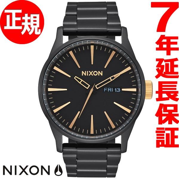 ニクソン NIXON セントリーSS SENTRY SS 腕時計 メンズ マットブラック/ゴールド NA3561041-00