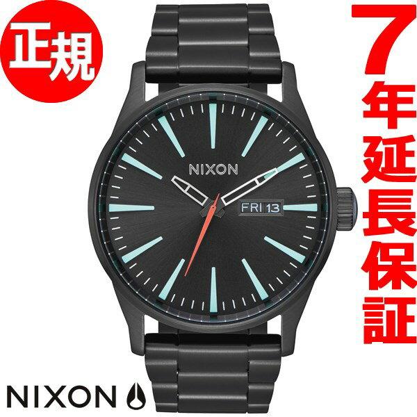 ニクソン NIXON セントリーSS SENTRY SS 腕時計 メンズ オールブラック/シルバー/ルミ NA3562790-00