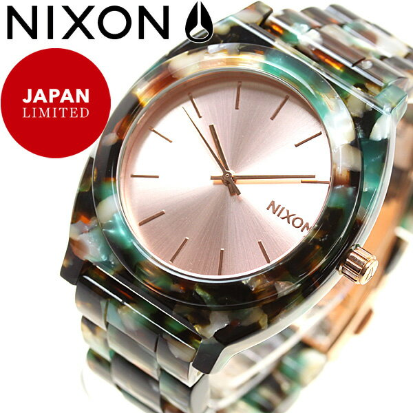 ニクソン NIXON タイムテラー アセテート TIME TELLER ACETATE 日本限定モデル 腕時計 レディース ローズゴールド/マルチ NA3272943-00【2017 新作】【あす楽対応】【即納可】