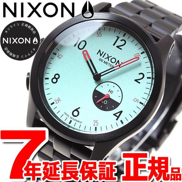 ニクソン NIXON ビーコン BEACON 腕時計 メンズ オールブラック/ブルー NA1168602-00【2017 新作】