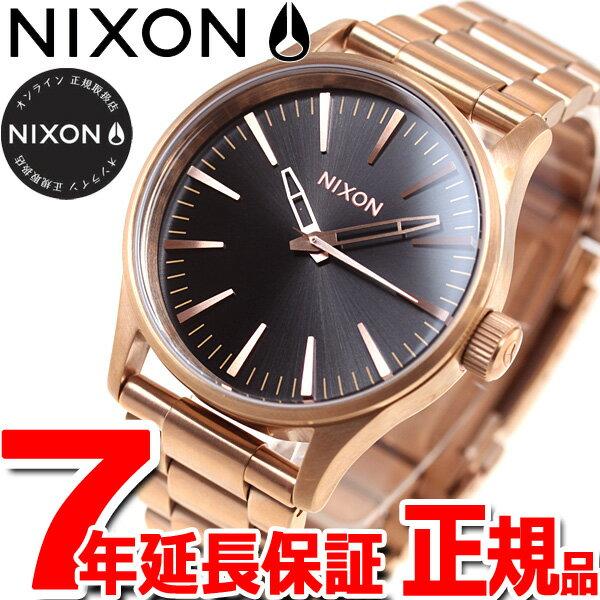 【楽天ショップオブザイヤー大賞!】ニクソン NIXON セントリー 38 SENTRY 38 腕時計 メンズ/レディース オールローズゴールド/ブラック NA4501932-00