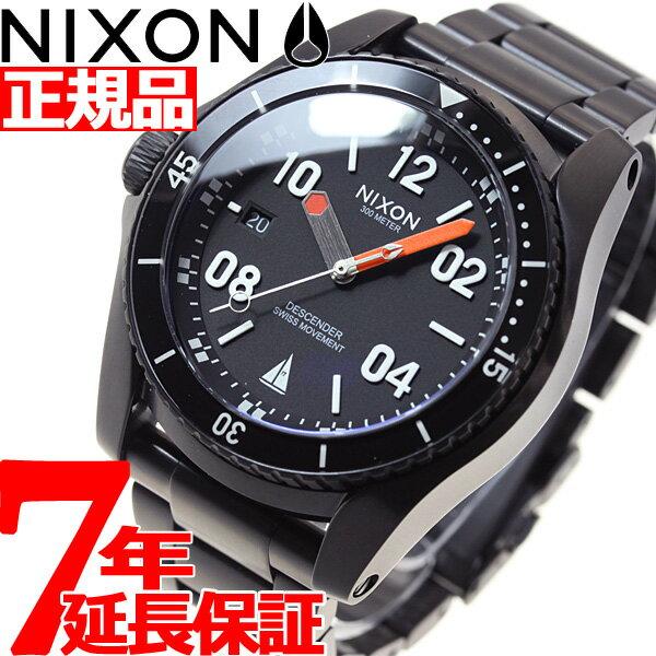 ニクソン NIXON ディセンダー DESCENDER ジョンジョン フローレンス コラボモデル 腕時計 メンズ ブラック/オレンジ NA9592758-00