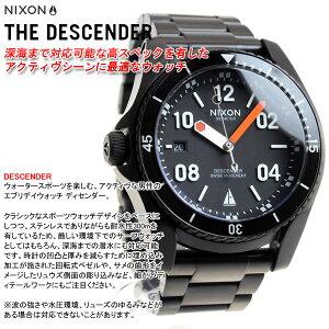 ニクソンNIXONディセンダーDESCENDERジョンジョンフローレンスコラボモデル腕時計メンズブラック/オレンジNA9592758-00【2017新作】