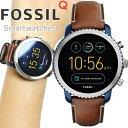 フォッシル FOSSIL Q スマートウォッチ ウェアラブル 腕時計 メンズ エクスプローリスト Q EXPLORIS FTW4004
