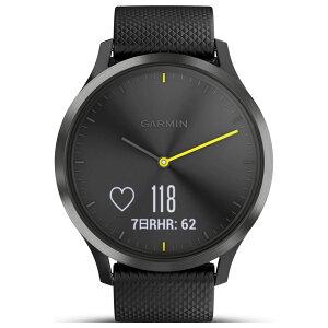 ガーミンGARMINヴィヴォムーブvivomoveHRSportBlackスマートウォッチウェアラブル端末腕時計メンズレディース010-01850-71【2017新作】