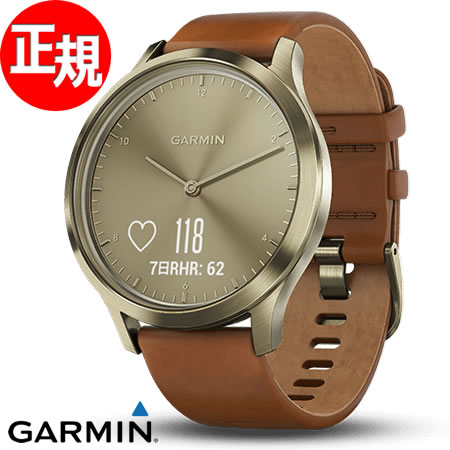 ガーミン GARMIN ヴィヴォムーブ vivomove HR Premium Gold スマートウォッチ ウェアラブル端末 腕時計 メンズ レディース 010-01850-75【2017 新作】【あす楽対応】【即納可】