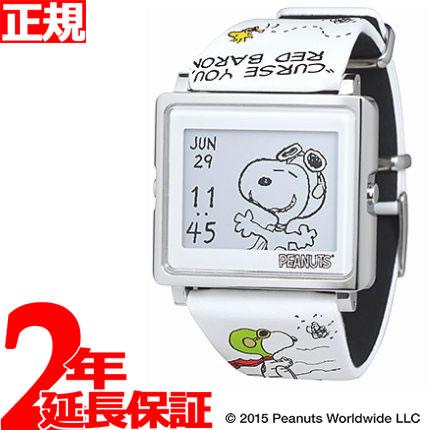 EPSON smart canvas PEANUTS スヌーピー変装シリーズ フライング・エース 腕時計 メンズ レディース W1-PN20310
