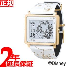 【SHOP OF THE YEAR 2018 受賞】エプソン スマートキャンバス EPSON smart canvas Classic Pooh ホワイト 腕時計 メンズ レディース W1-DY10220