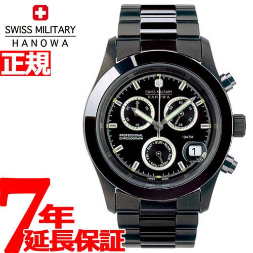 ポイント最大35倍!21日1時59分まで! スイスミリタリー 腕時計 SWISS MILITARY PVD BLACK BIG CHRONO ML247