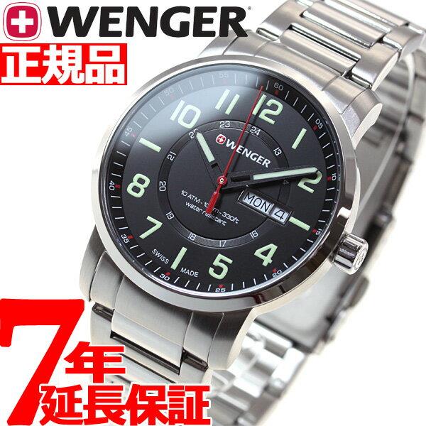 本日ポイント最大37倍!26日1時59分まで!ウェンガー WENGER 腕時計 メンズ アティチュード デイデイト Attitude Day&Date 01.1541.102