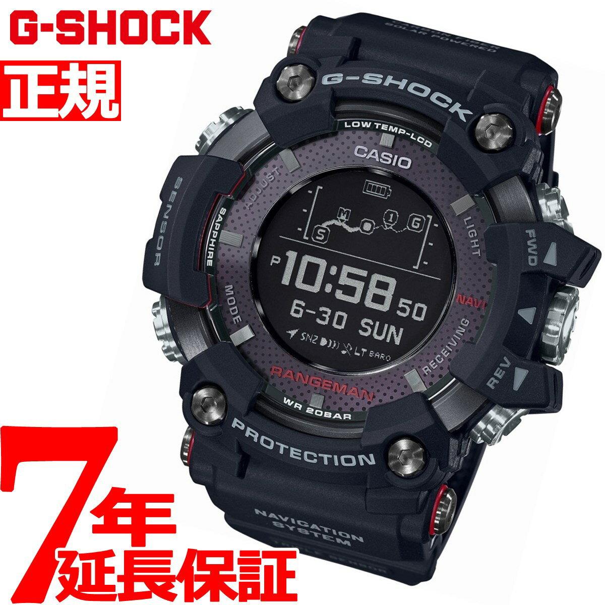 G-SHOCK GPS 電波 ソーラー 電波時計 カシオ Gショック レンジマン CASIO RANGEMAN Bluetooth搭載 腕時計 メンズ GPR-B1000-1JR【2018 新作】【あす楽対応】【即納可】