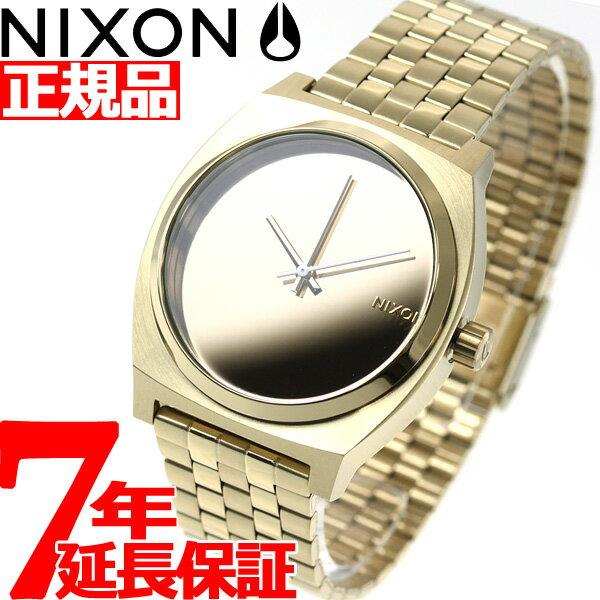 本日ポイント最大36倍!28日9時59分まで! ニクソン NIXON タイムテラー TIME TELLER 腕時計 メンズ/レディース ライトゴールド/ミラー NA0452764-00【あす楽対応】【即納可】