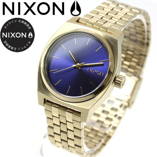 ニクソン NIXON ミディアム タイムテラー MEDIUM TIME TELLER 腕時計 レディース ライトゴールド/インディゴサンレイ NA11302811-00