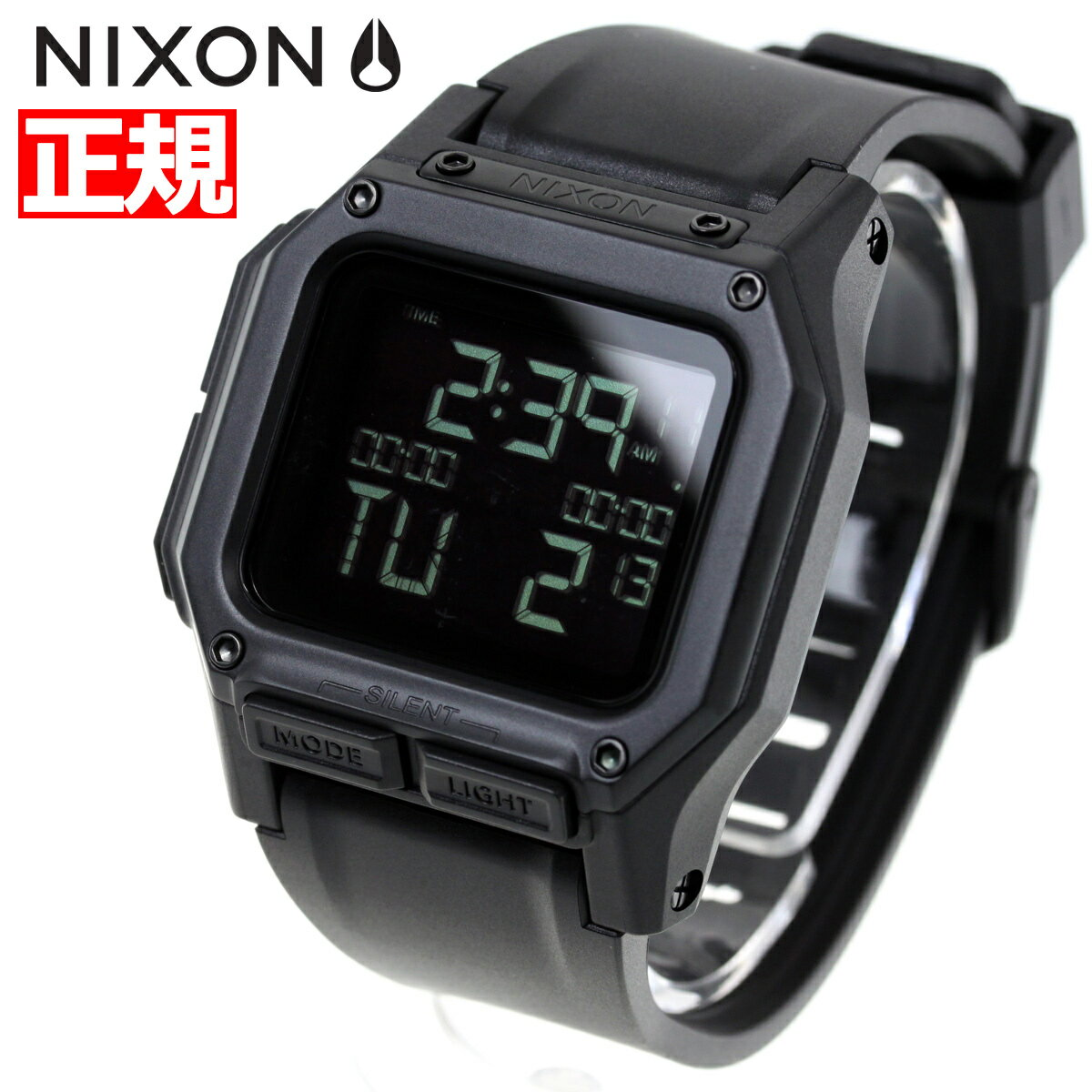本日ポイント最大37倍!26日1時59分まで!ニクソン NIXON レグルス REGULUS 腕時計 メンズ ALL BLACK NA1180001-00【2018 新作】